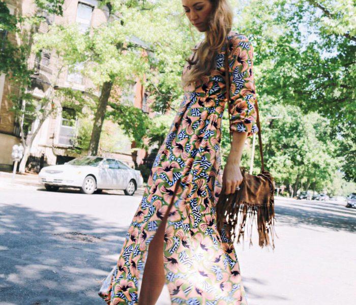 Summertime Long Sleeve Maxi Dress